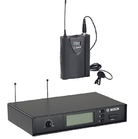 Micro cài ve áo Bosch MW1-LTX-F5 và bộ thu MW1-RX-F5